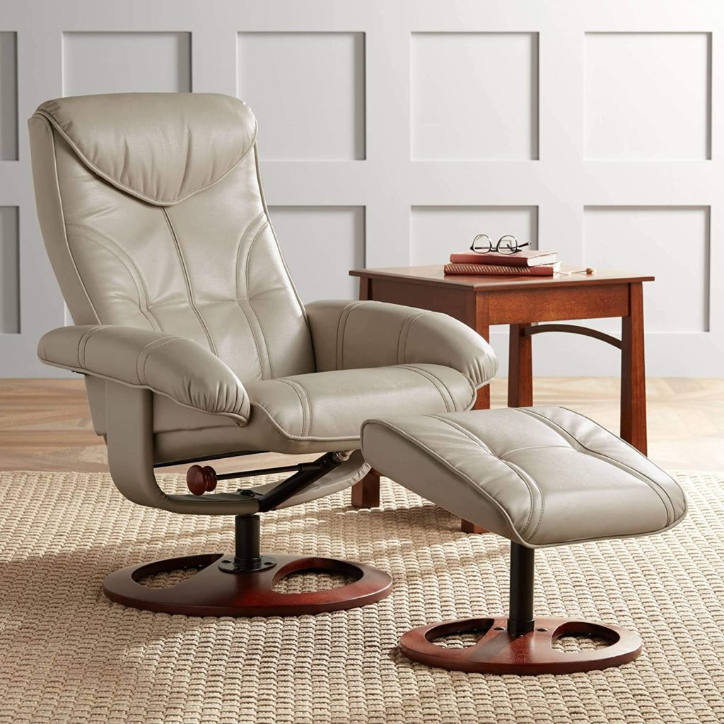BenchMaster Newport taupe Swivel stressless chairs