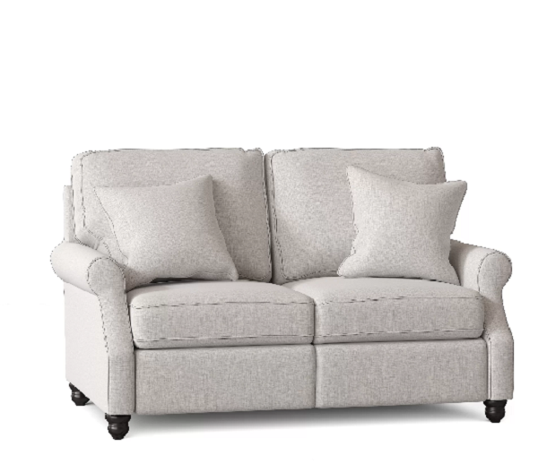 Wayfair Doug Rolled Arm Reclining Loveseat