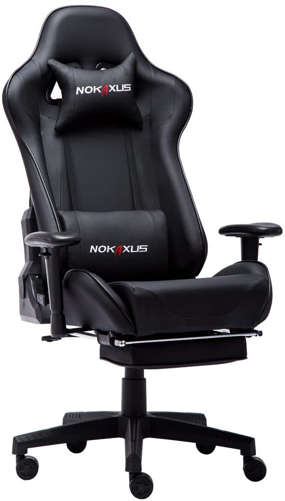 Nokaxus YK-6008 gaming chair with footrest