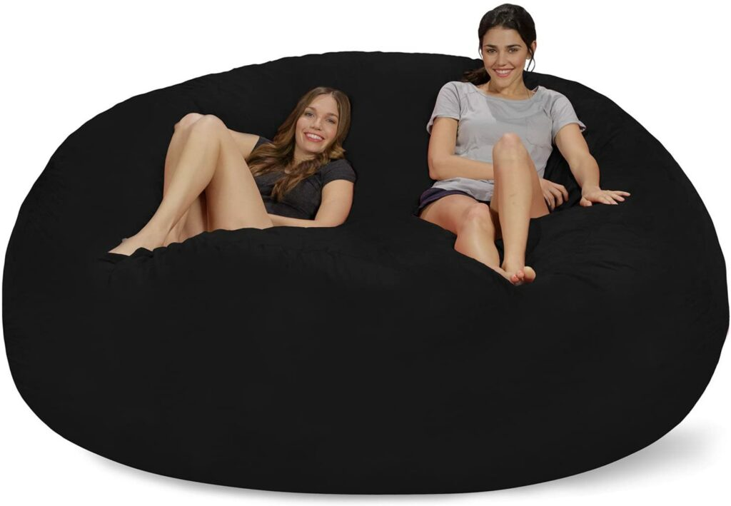 Chill Sack 8-foot Bean Bag Beds with Memory Foam & Soft Micro Fiber Cover