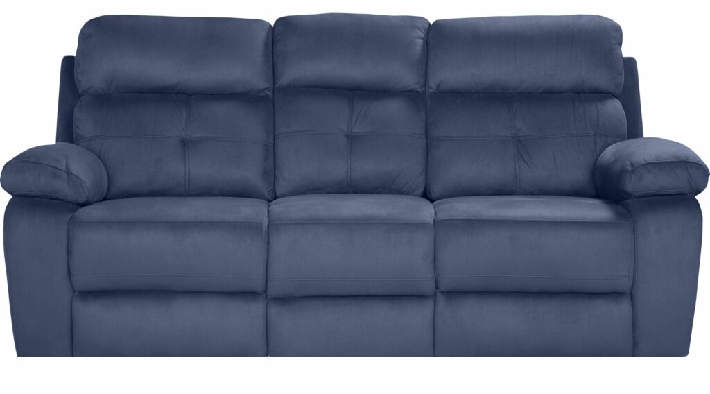 Corinne Blue Reclining Sofa from Rooms to go recliners store