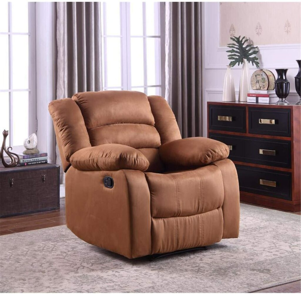Addison Large Contemporary Microfiber Recliner