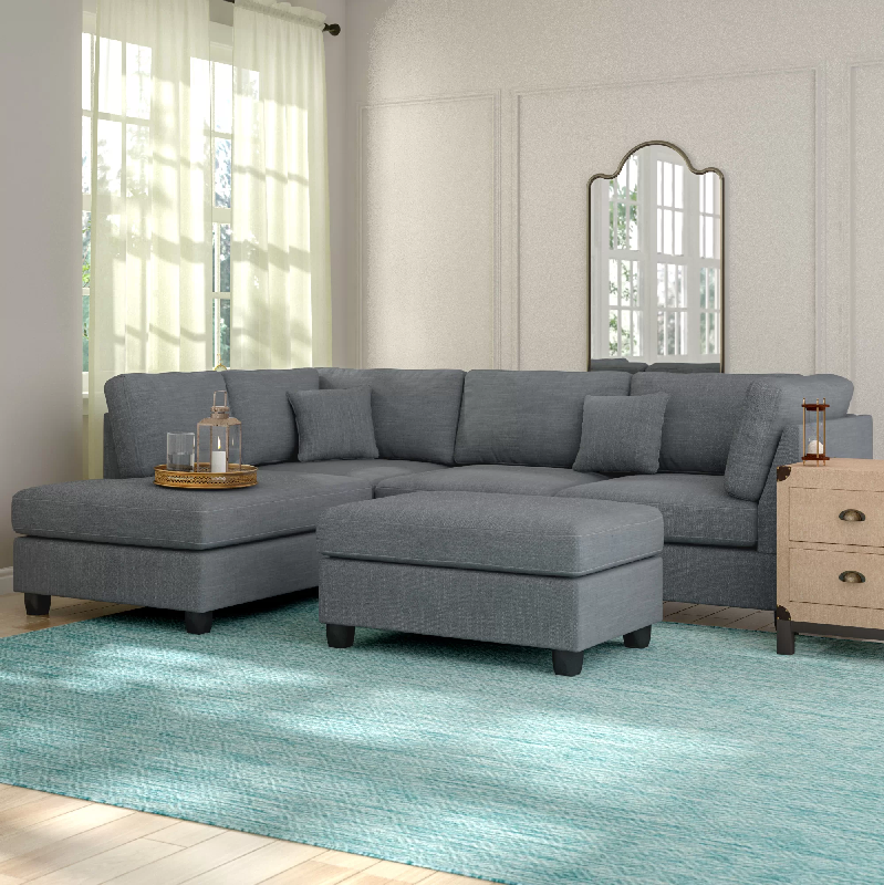 """Hemphill 104"""" Wide Reversible Sofa & Chaise with Ottoman by Andover Mills amazon"""