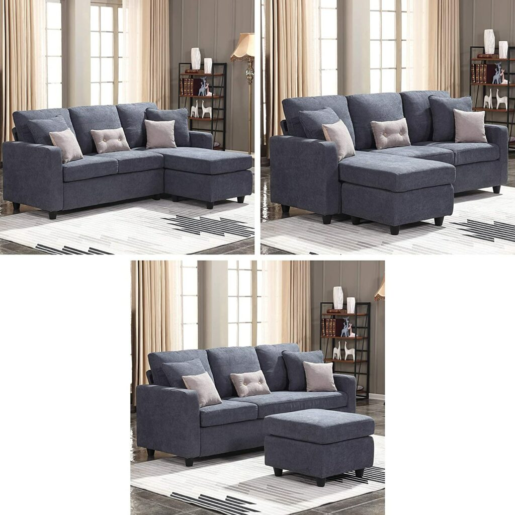Honbay Convertible Sectional Couch/Sofa