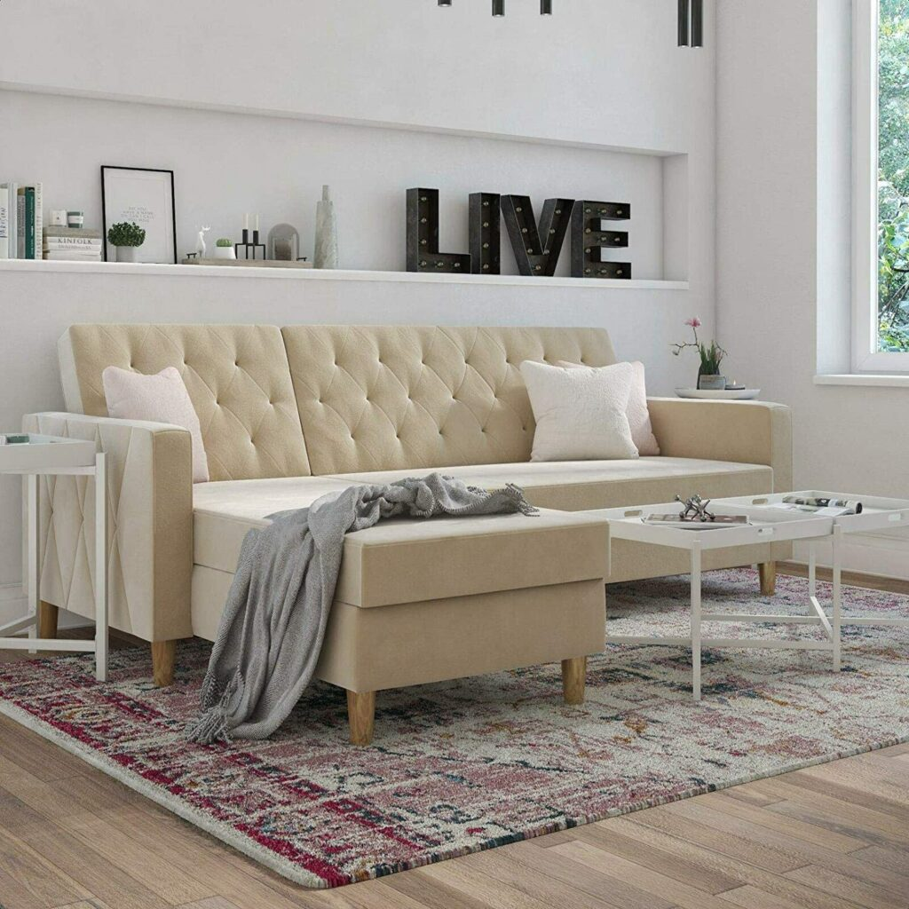 """Liberty 84"""" Reversible Sleeper Sofa and Chaise"""