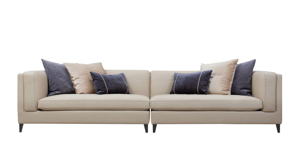 Jennifer Taylor Home Esquire Top Grain Leather 4-Seater Sectional Sofa