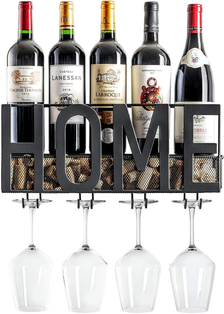 MKZ Products Wall Mounted Wine Rack