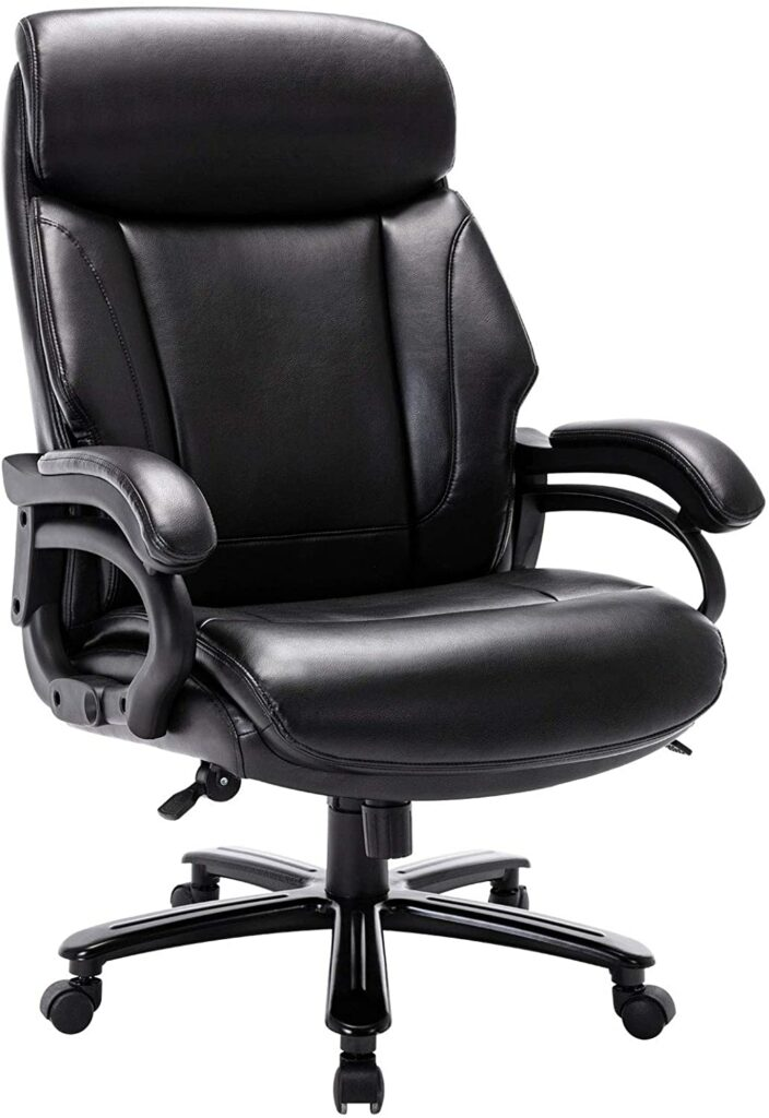 StarSpace High Back Big and Tall Leather Office Chair